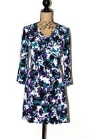 NEW Jaclyn Smith Collection Women's Fall Floral Long Sleeve Dress Size Medium