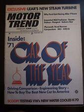 Motor Trend Magazine February 1971 Car of the Year Road Runner (H) (GG) B1 VV