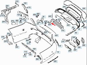 MERCEDES-BENZ E-CLASS W213 Tailgate Open Control Module A2059055211 New Genuine