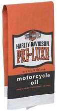 Harley-Davidson Pre-Luxe Bar Towel, 22 x 32 inches Orange & Black Hdl-18571