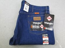 NEW Men's Wrangler Flame Resistant 13 Original Fit Blue Denim Jeans NWT 40x36