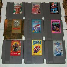 Nintendo NES 10 Game Lot Zelda Super Mario Bros 3 Ninja Gaiden Duck Hunt Tested
