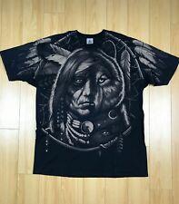 Liquid Blue Dream Weaver Native American Bear Graphic Shirt Tee 2XL Mens 1996