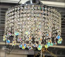 Lead Crystal Chandelier Chrome Ceiling Light fitting lighting lamp M30BallAB20mm