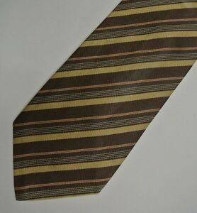 Brown Stripes Silk Tie