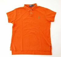 Ralph Lauren Poloshirt Polohemd Herren Gr.L orange uni Piquè -S1067