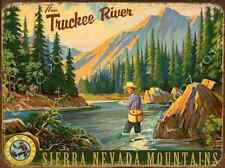 Fly Fishing Metal Sign: Sierra MountainsCountry Home Decor, Cabin Decor
