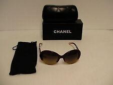 60349cbe2f0cd Chanel Lunettes de Soleil pour Femmes Neuf Jaune Orange Rouge Marron Rond  5156
