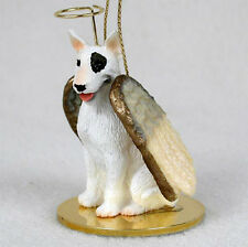 Bull Terrier Ornament Angel Figurine Hand Painted White