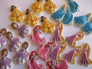 Princess Resin Flatback Charms Cabochons  Embellishments DIY  5 pcs You  Choose