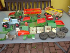Großes Konvolut Ersatzteile für Steiff Holzspielzeug Unimog Anhänger Traktor