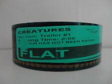 CREATURES 35mm Movie Trailer #1 film collectible FLAT 2min 00secs