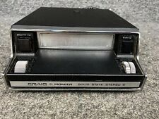 Vintage Craig Pioneer Car Stereo 8 Track Cassette Deck Untested For Parts Repair