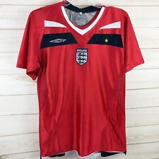Umbro England Shirt Jersey Football Soccer Small Red Embroidered Vented