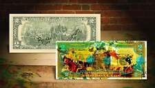 American Pharoah Triple Crown Rency / Banksy Art $2 Bill Signed by Artist #/215