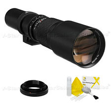 Bower 500mm F8 Preset Telephoto Lens for Canon Cameras