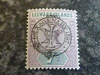 LEEWARD ISLANDS POSTAGE REVENUE STAMP SG14 7D LIGHTLY MOUNTED MINT
