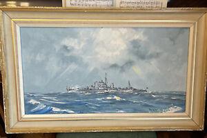 George R Deakins Naval Painting 1977