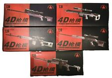1/6 Scale 4D Pioneer Counter Terrorism Tactical Weapon Gun Toys 5 Model Set