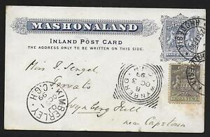 Machonaland covers 1899 uprated PC Salisbury to Wijnberg per Train