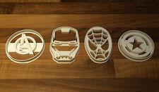 Cookie Cutter Set, Spiderman Marvel, Capitán América, Iron Man, Vengadores Set