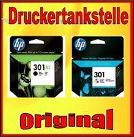 Sparpaket original HP 301XL black + 301 color  Deskjet 1000 1050A 2000 2050A
