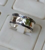 Silber Spinner Ring, Sterling Silber Ring Spinner Hochzeit Band Oxidized Ring