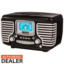 Crosley CR612-BK Black Corsair Retro AM/FM Radio Dual Alarm Clock CD Player