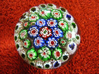 "Millefiori Glass Paperweight  Height  2"" Inches Widest  Part  Of  Base  2.1/2"""