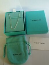 tiffany and co. sterling silver chain 18cm