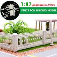 1:87 HO Building Scale Sand Table Fences Parking Train Railway  Model