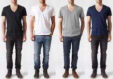 Cotton Stretch Basic T-Shirts for Men Deep V