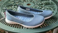 Ladies Skechers Trainers  Air Cooled Memory Foam Casual Slip On Oil Blue UK 7