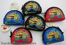 6 Australian Souvenir Coin Pouch - Australian Map Design  - Bulk Savings!