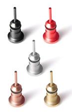 10 x 3.5mm Metal Aux Anti-Dust Plug Earphone Jack Port Cover & Sim Eject Pin