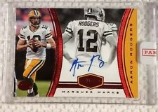 AARON RODGERS 2017 Plates & Patches Red Marquee Marks #'d 1/2 AUTO PACKERS!!
