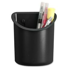 Lorell Recycled Plastic Mounting Pencil Cup - Plastic - Black (LLR80668)