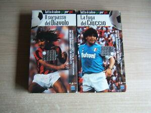 2 VHS=LA STORIA CAMPIONATO 87/88 IL SORPASSO DEL DIAVOLO=MILAN=NAPOLI=MARADONA