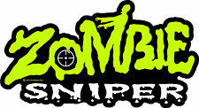 "ProSticker 1347 (One) 4"" x 7"" Zombie Sniper Decal Sticker Apocalypse"
