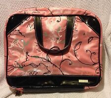 MARY KAY CONSULTANT PURSE/BRIEFCASE PINK/BLACK STAR W/BONUS TRAVEL CASE