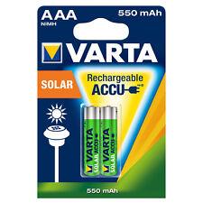 Varta Accu Akku Solar 550mAh AAA Wiederaufladbar Rechargeable Sonnenlicht 2er Bl