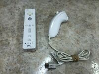 Official Nintendo OEM Wii Remote Wiimote Controller White RVL-003 W/Nunchuck #C2