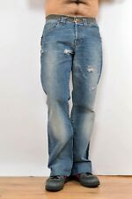 Just Cavalli Made in Italy Mens Jeans Faded Flared Distressed Look Regular W33