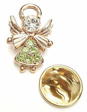 Angel-Drops Birthstone Guardian Angel Pin August Peridot