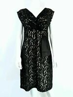 Per Una Speciale Black Lace Dress UK 14 Sleeveless Fit & Flare Evening Party