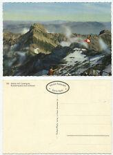 29474 - Säntis mit Lysengrat, Rotsteinpass, Altmann -Echtfoto koloriert, alte AK
