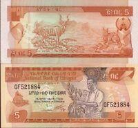 Etiopía - Etiopía billete nuevo de 5 birr pick 42 UNC
