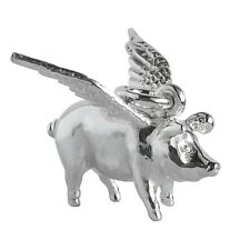 Pig with Wings Charm Sterling Silver .925 Pigs Might Fly Flying Animal