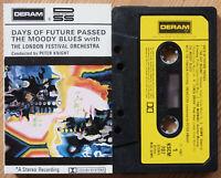 MOODY BLUES - DAYS OF FUTURE PASSED (DERAM KSCM707) 1970s UK CASSETTE TAPE PSYCH