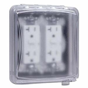 TayMac Electrical Box In-Use Cover Protector, 2-Gang Outdoor Outlet, Superb